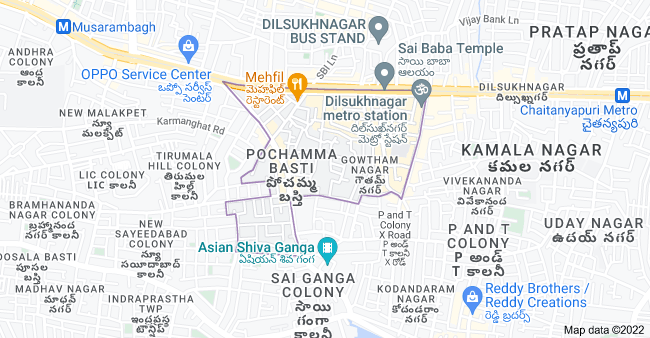 Map of Gaddiannaram, Hyderabad, Telangana, India