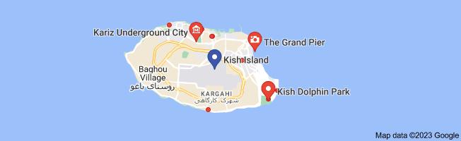 Map of دیدنیهای کیش