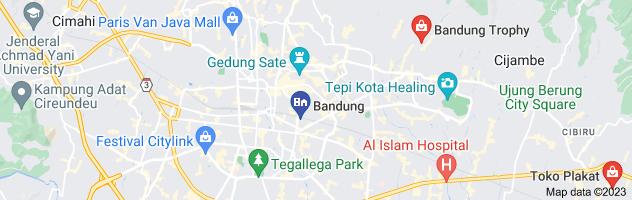 Map of jual plakat akrilik di bandung