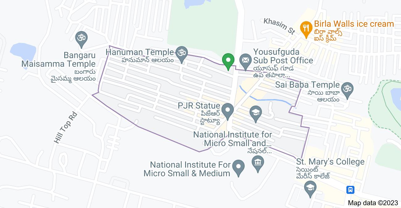 Map of Rahmat Nagar, Moti Nagar, Hyderabad, Telangana 500045, India