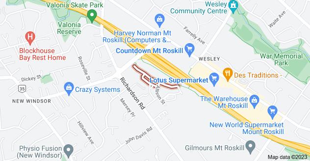 Location of Ernie Pinches Street