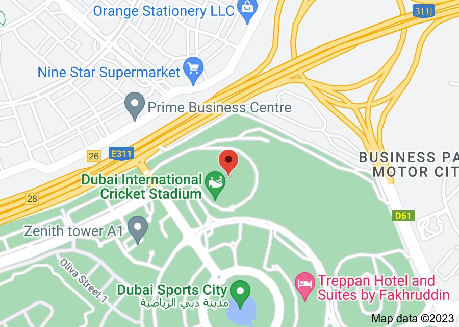 Location of Dubai International Stadium