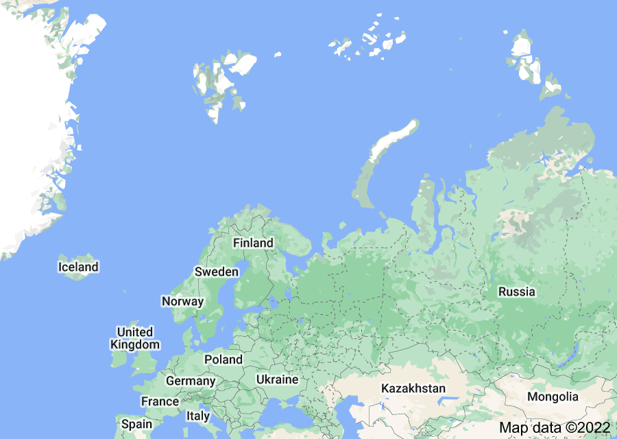 Location of Eastern Europe