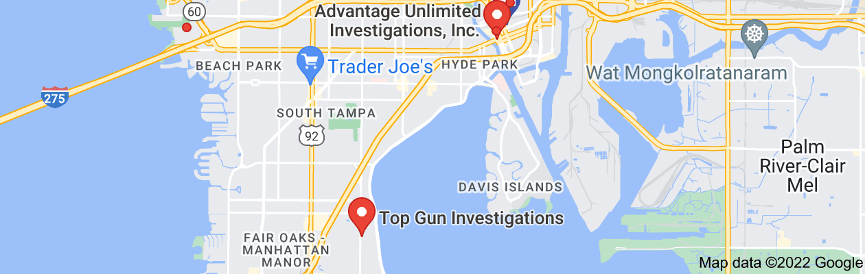 Map of private investigator tampa florida