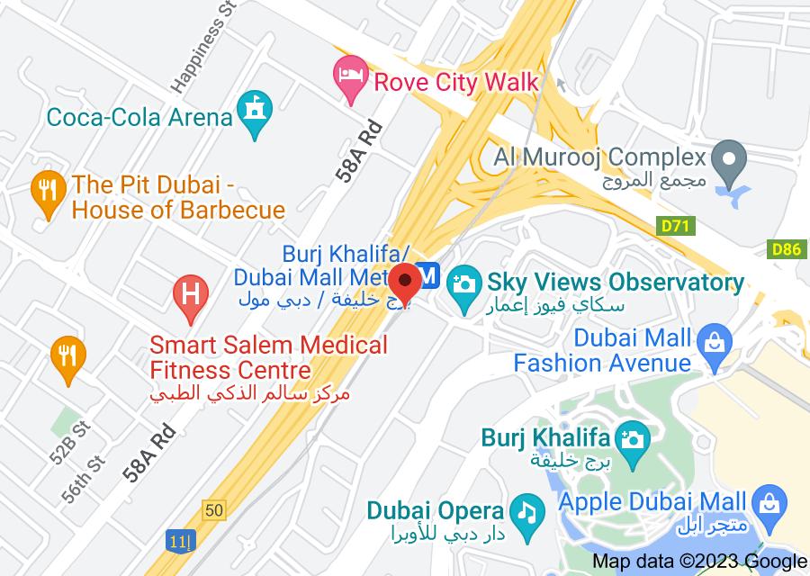 Location of CRIF GULF DWC LLC. (Dun & Bradstreet)
