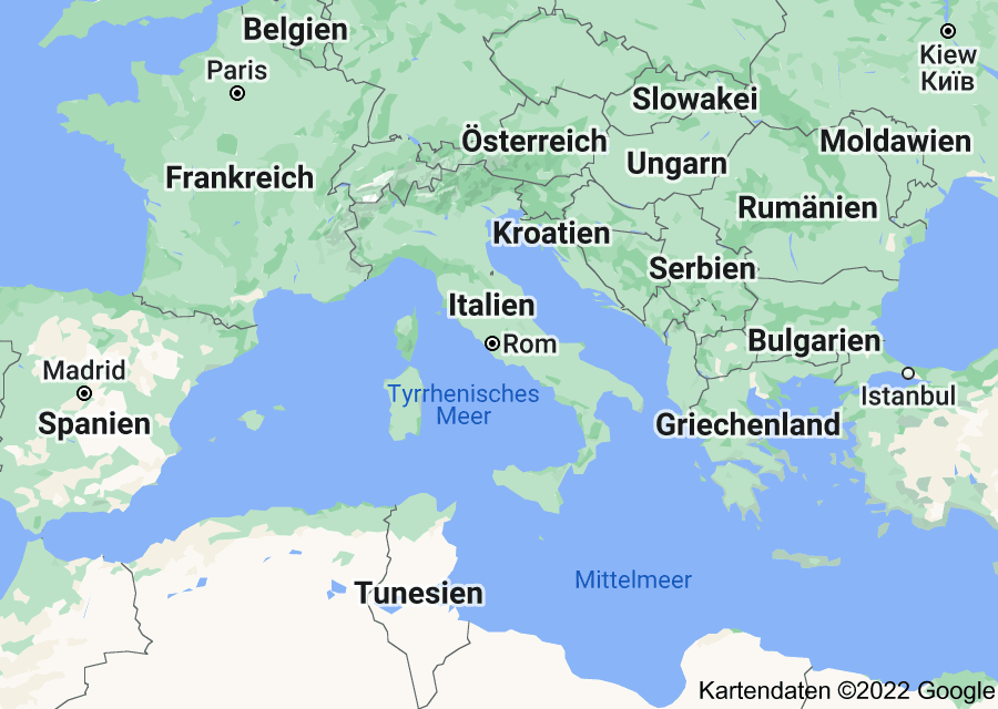Location of Italien