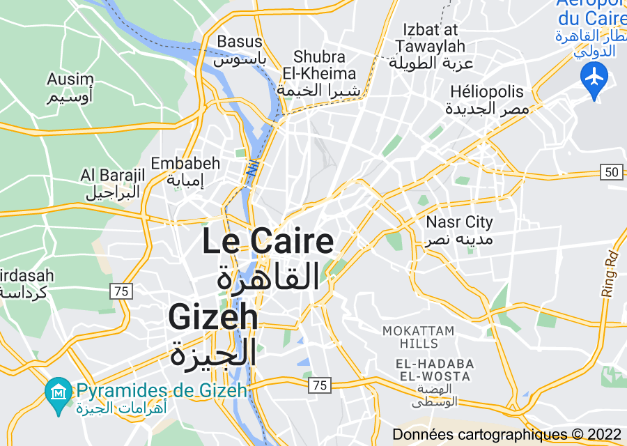 Location of Le Caire