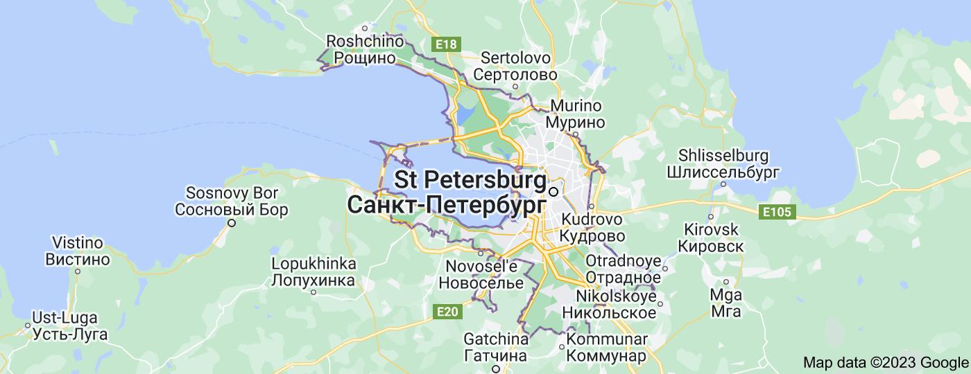 Location of Saint Petersburg