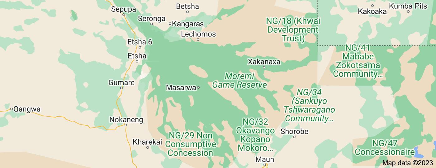 Location of Okavango Delta