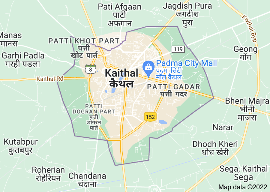 Location of Kaithal