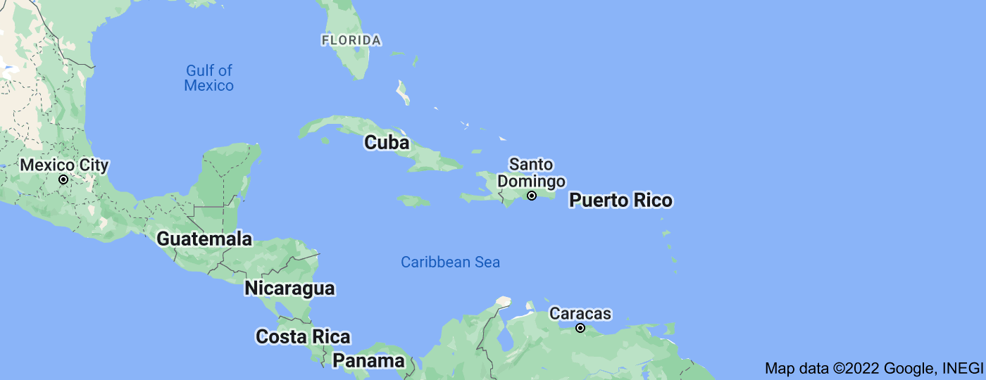 Location of Caribbean
