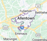Map of Allentown