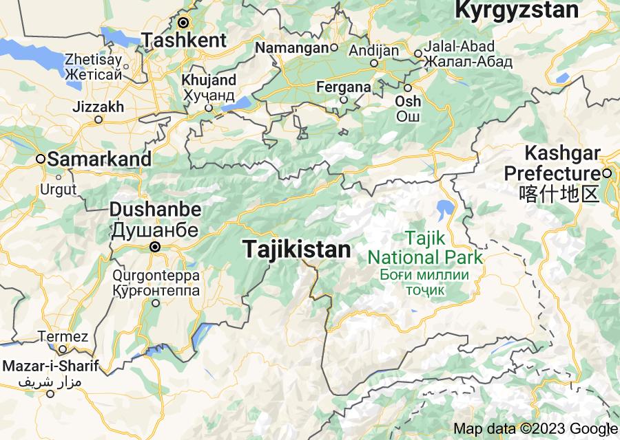 Location of Tajikistan