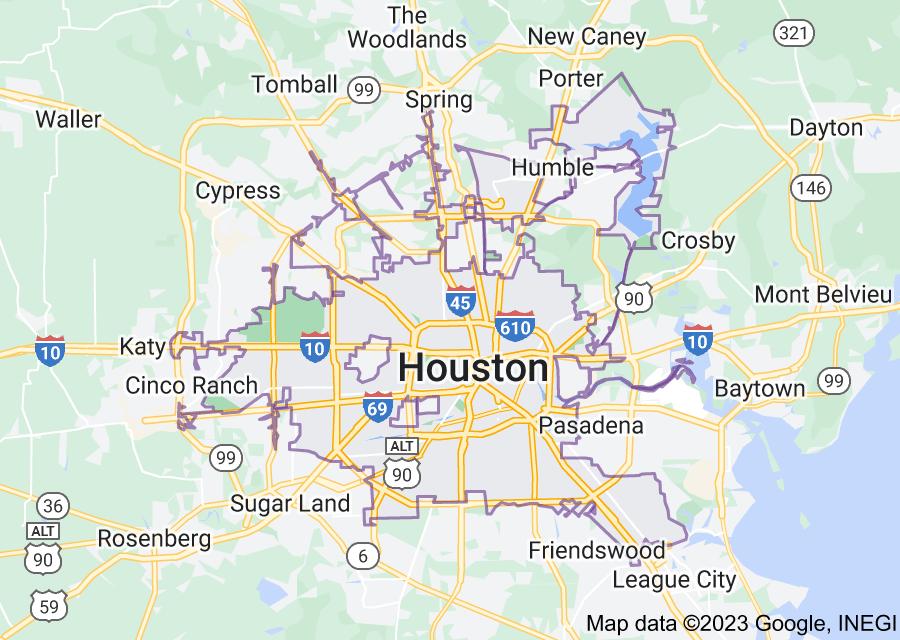 Location of Houston