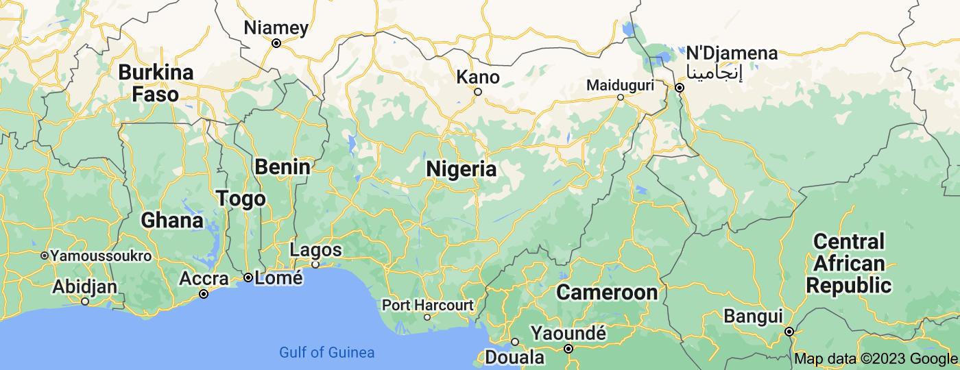 Location of Nigeria