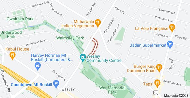 Location of Elphinstone Avenue