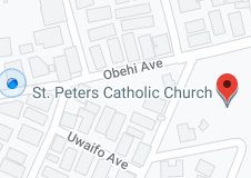 Map of St. Peters Catholic Church