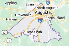 Map of Augusta, Georgia