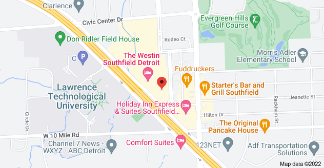 Map of 1000 Town Center, Southfield, MI 48075