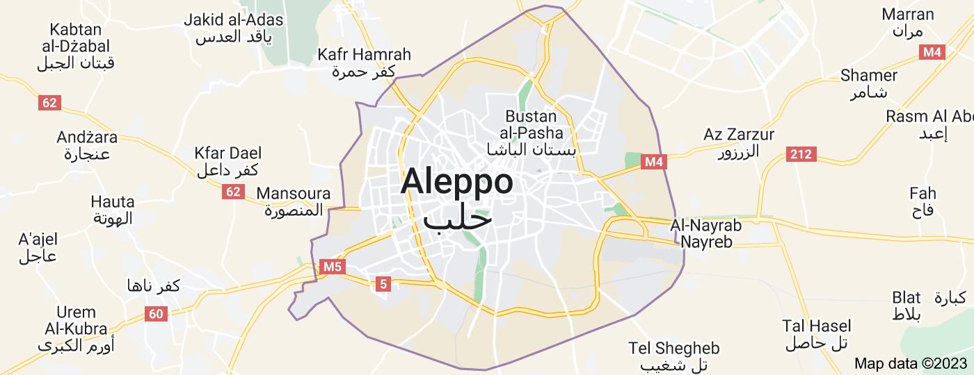 Location of Aleppo