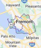 Map of Fremont, California