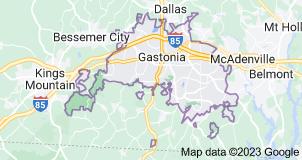 Map of Gastonia, North Carolina