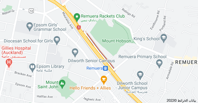 Location of Mount Hobson Road
