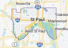 Map of Saint Paul, Minnesota