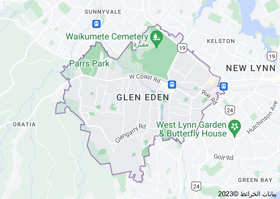 Location of Glen Eden