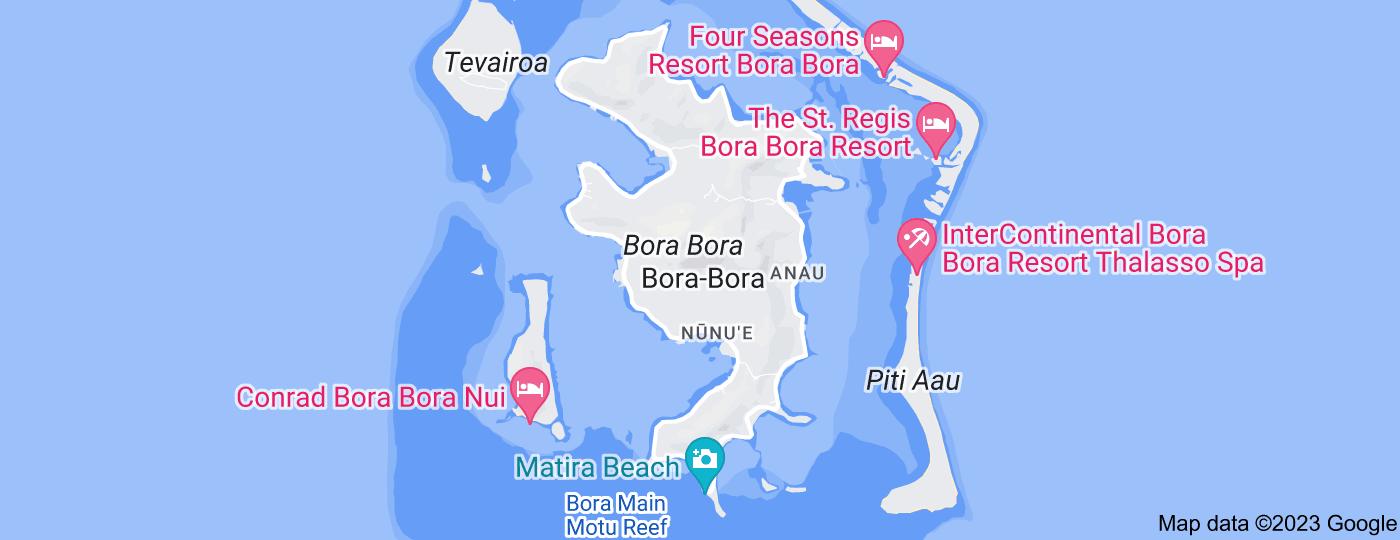 Location of Bora Bora