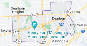 Map of Dearborn, Michigan