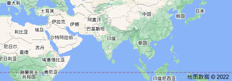 Location of 印度