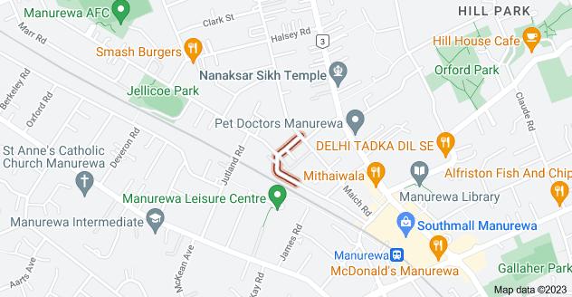 Location of Beatty Avenue