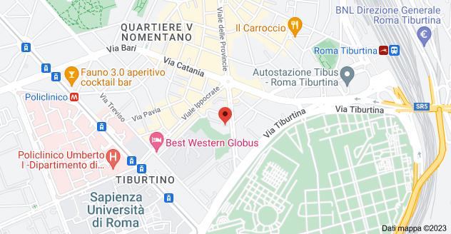 Mappa di: Viale delle Provincie, 196, 00162 Roma RM