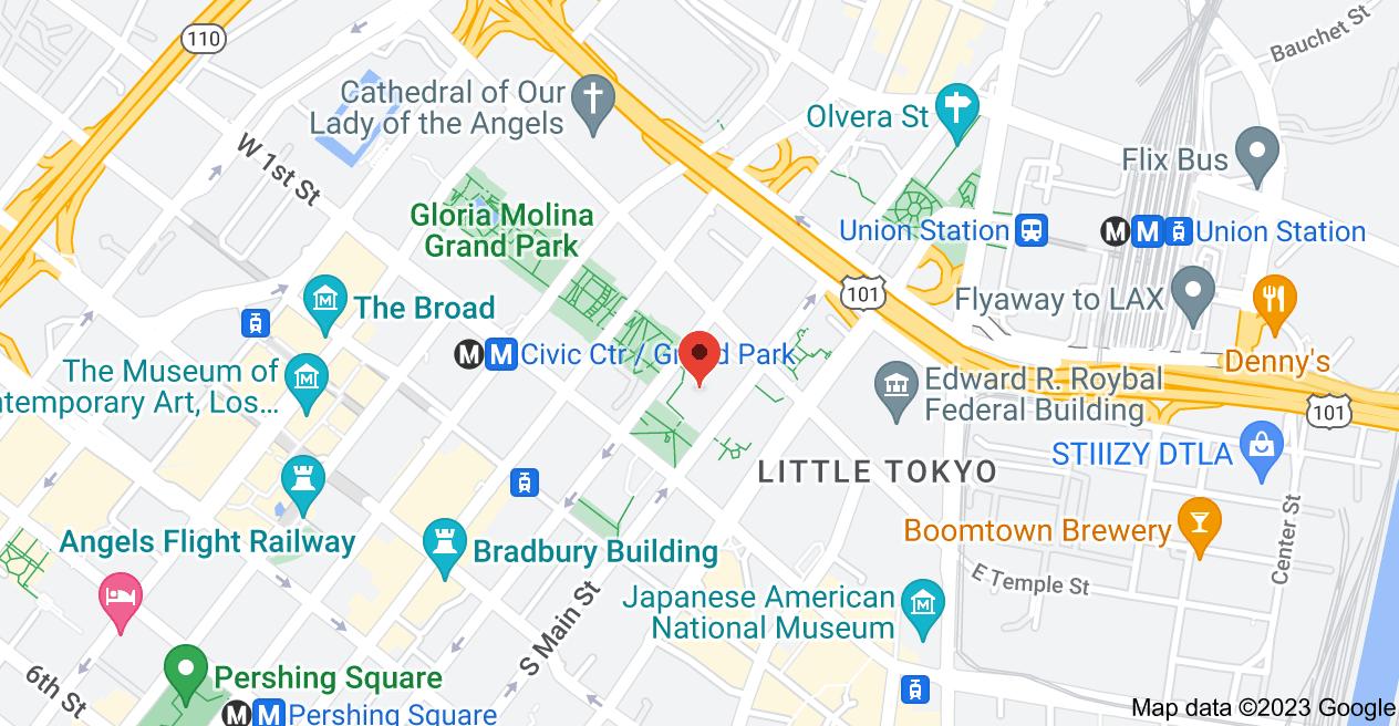 Map of Los Angeles City Hall, 200 N Spring St #1060, Los Angeles, CA 90012