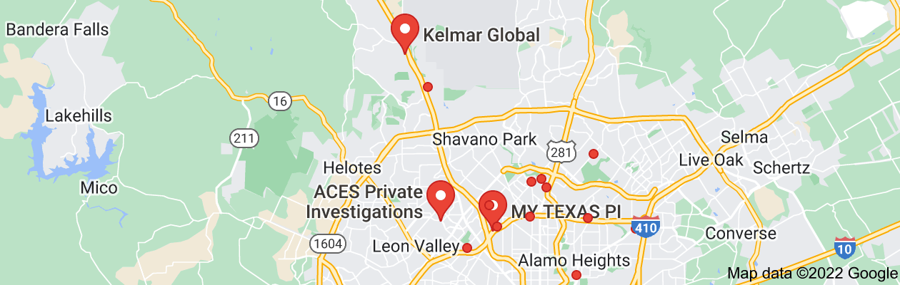 Map of private investigator san antonio tx