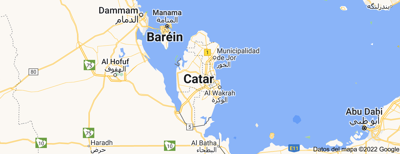 Location of Catar