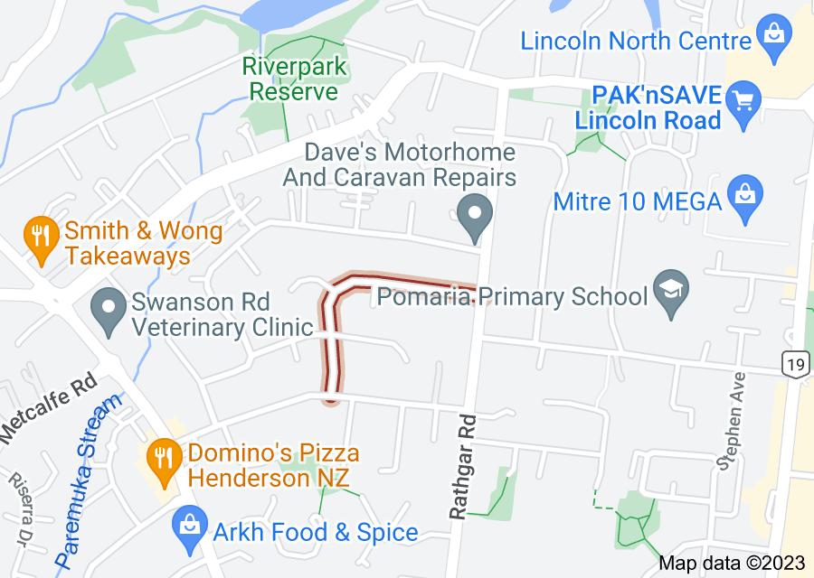 Location of Larissa Avenue