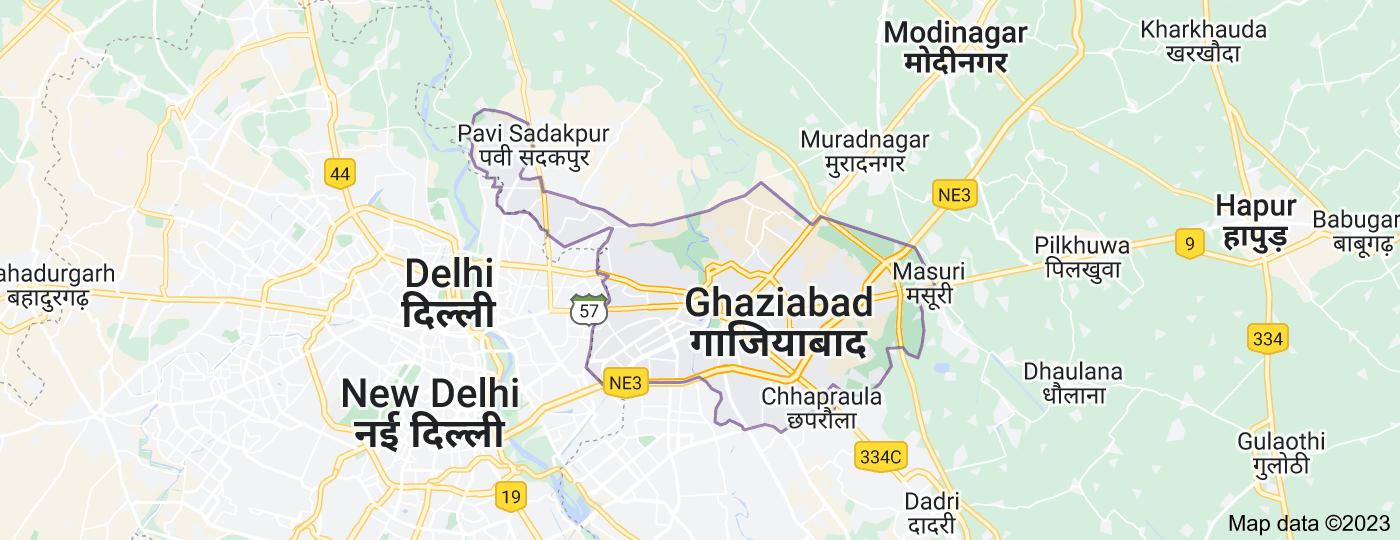 Location of Ghaziabad, Uttar Pradesh