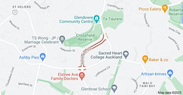 Location of Washington Avenue