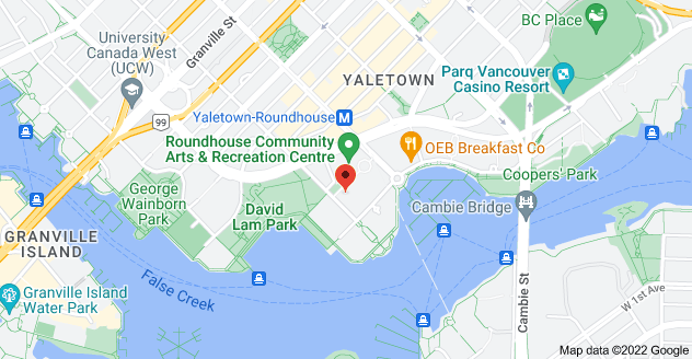 Map of 139 Drake St, Vancouver, BC V6Z 2T7