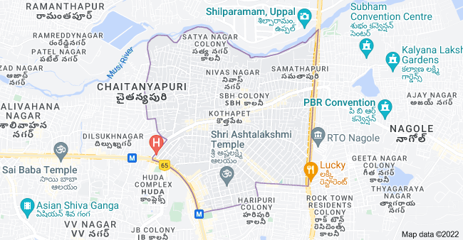 Map of Kothapet, Hyderabad, Telangana, India