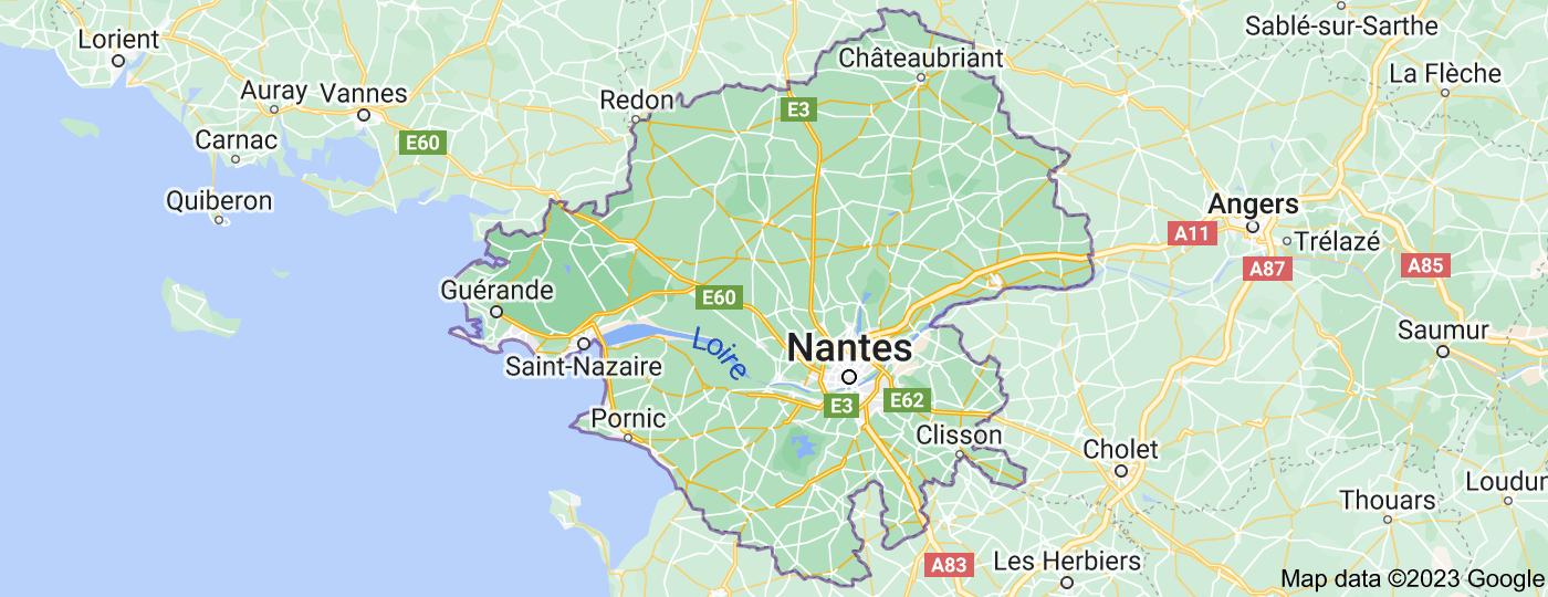 Location of Loire-Atlantique