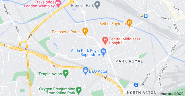 Map of Park Royal, London