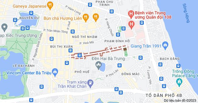 Bản đồ của Nguyễn Công Trứ, Hai Bà Trưng, Hà Nội