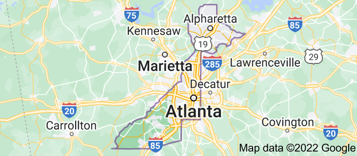 Map of Fulton County
