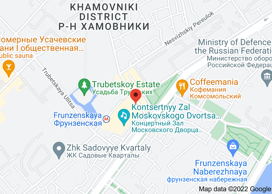 Location of Frunzenskaya