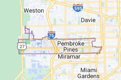 Map of Pembroke Pines