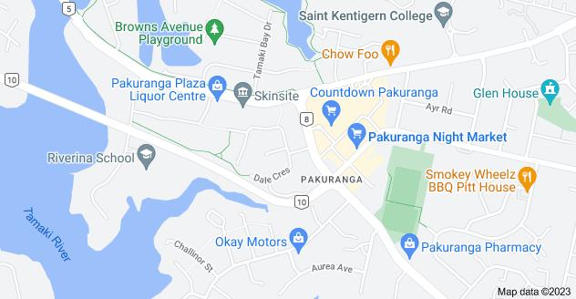 Location of Dale Crescent