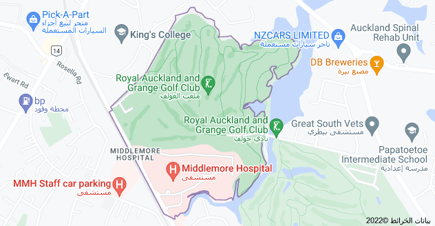Location of Middlemore Hospital